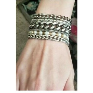 Jenny Bird Always Hustlin' Siver Chain Bracelet